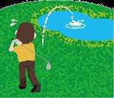 池にミスショット